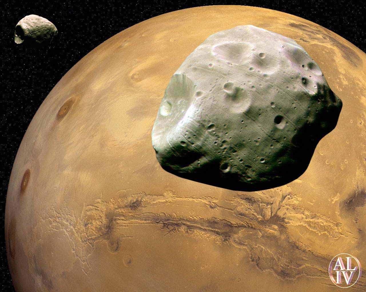 марс со спутника.